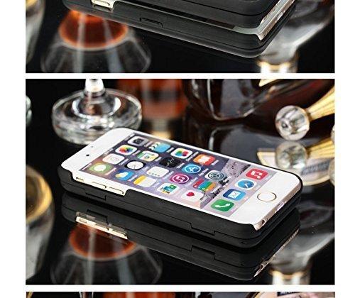 iPhone 7 Hülle, iPhone 8 Handyhülle, Vandot Schutzhülle für iPhone 7 Hülle mit Make Up Mirror Spiegel Exklusive Kreativ BOOK PC Hart PU Leder Flip Case Cover Handy Schutz Brieftasche Handytasche Schal Schwarz