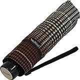 Doppler Mini Taschenschirm Havanna UV-Protect sturmfest leicht - Milito - choco