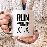 Tasse à café humoristique pour coureur ou course à pied Motif zombies