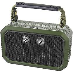DOSS Traveler Enceinte Bluetooth Portable,5 Modes d'éclairages,Waterproof Haut-Parleur d'extérieur sans Fil,avec Son de 20W HD,étanche IPX6,Idéal pour Camping,Les Voyages, Vert