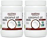 Nutiva 858ml Organic Extra Virgin Coconut Oil - Pack of 2