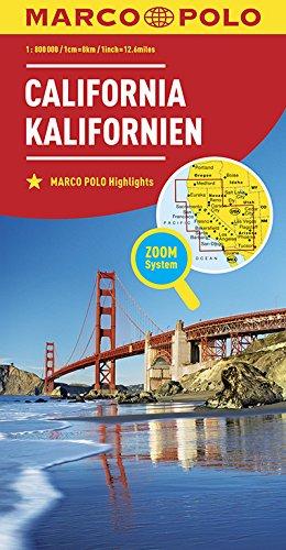 MARCO POLO Länderkarte Kalifornien 1:800 000: Wegenkaart 1:800 000 (MARCO POLO Länderkarten) -
