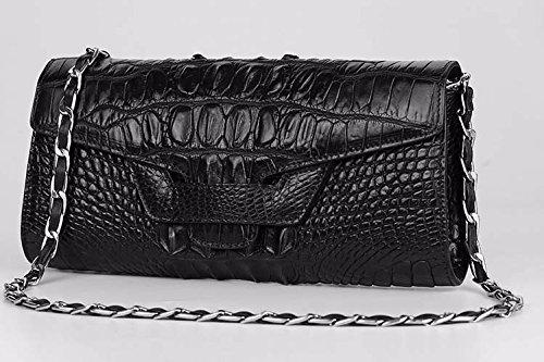 lpkone-Nouveau motif crocodile sac à main sac à main sac motif crocodile sac à bandoulière baodan dîner sac Messenger sac de dame Black