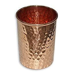 India Online Shopping Ayurvedic Health Benefits Drinkware Tableware Tumbler Pure Copper Water Glass