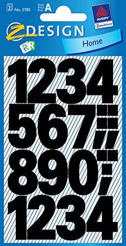 Avery Zweckform etiquetas con/3785 25 mm negro resistente