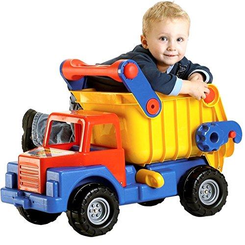 Wader 03555 - Truck No 1.Großer LKW-Kipper, 80 cm aus extra stabilem Kunststoff (Monster Trucks Für Kleinkinder)