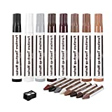 Weiye Möbel-Reparatur-Marker-Set - Set von 8 - Marker und Wachsstäben mit Spitzer Kit - für...