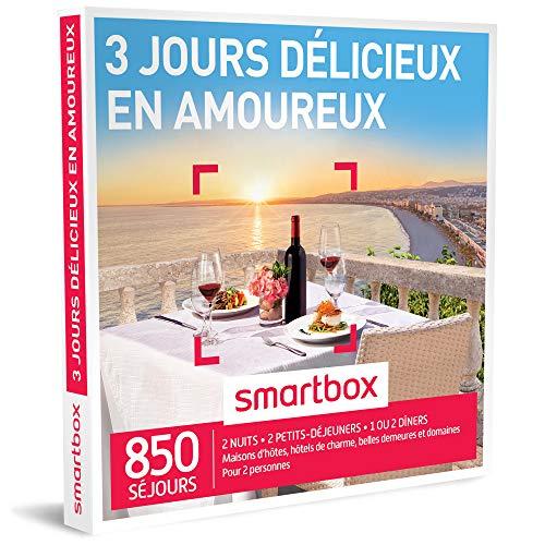 SMARTBOX - Coffret Cadeau - 3 JOURS DELICIEUX EN AMOUREUX - 350 Sejours : Maisons...