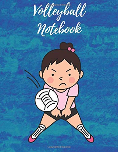Volleyball Notebook: Composition Notebook, Log Book, Diary for Athletes (8.5 x 11 inches, 110 Pages, College Ruled Paper) por Sports Notebooks