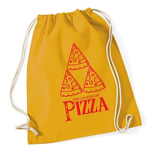 HippoWarehouse The Legend of Pizza Drawstring Cotton School Gym Kid Bag Sack 37cm x 46cm, 12 litres