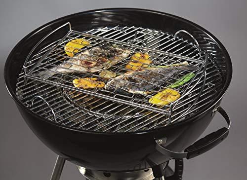 51%2B3WEVplbL - Jamestown Fisch- und Gemüsehalter | Grillzubehör aus verchromtem Stahl mit den Maßen 5,8 x 45,5 x 31,5 cm