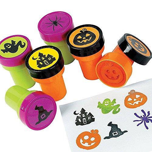 6 x Stempel Halloween Spinne Kürbis Schloss Hexe Geist Gespenst Kinderstempel Mitgebsel Halloweenparty -