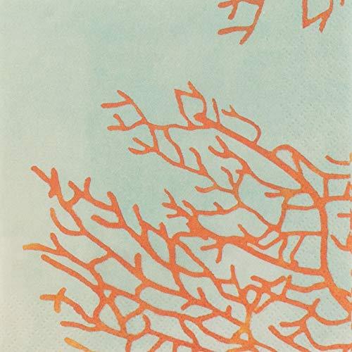 Michael Aram Papierservietten/Cocktailservietten, Ozeandekor, 12,7 x 12,7 cm, 48 Stück (Dekor Hochzeit Nautische)
