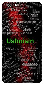Ushnisin (Lord Shiva) Name & Sign Printed All over customize & Personalized!! Protective back cover for your Smart Phone : MircroSoft Lumia 540