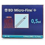Bd Micro-Fine U-100 Insulin Syringe 0.5ml