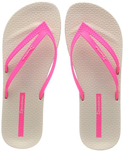 Ipanema Damen Bossa Soft II FEM Zehentrenner, Mehrfarbig (Beige/Pink), 39/40 EU