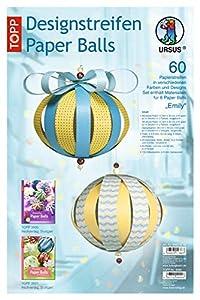 Ursus 23430099 Emily - Tiras de Papel para decoración de 8 Bolas (60 Unidades)