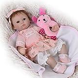 KEIUMI lebensecht Reborn Baby-Puppe 43,2cm/42Soft Silikon Sie Echt Babys Mädchen mit Mohair Kinder Geburtstag Xmas Geschenk