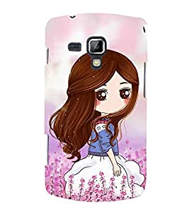 Cute Girl 3D Hard Polycarbonate Designer Back Case Cover for Samsung Galaxy S Duos S7562