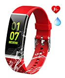 Fitness Tracker,Heart Rate Monito Activity Tracker with Pedometer Step Counter Watch and Sleep