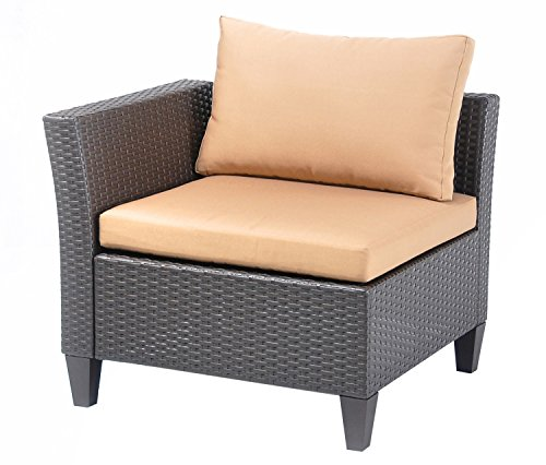 newsky polyrattan lounge corner sofa outdoor garden patio