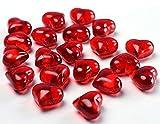 Dekosteine Herzen Streudeko Acrylherzen rot, ca. 2 cm, 30 St.