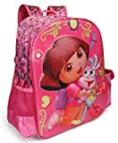 #5: Dora The Explorer Pink School Bag for Children of Age Group 3-5 years | Size 14 inch | Material Satin