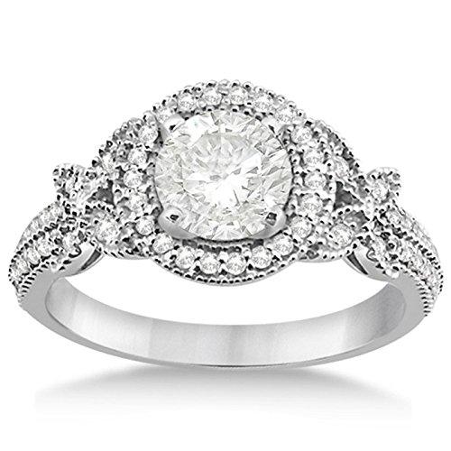 Vorra Fashion 1ct taglio rotondo zirconi bianco platino placcato argento 925anello di fidanzamento, Argento, 22, colore: White, cod. a12