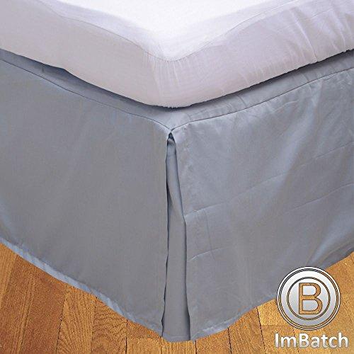 600TC 100% cotone egiziano, finitura elegante 1pcs scatola pieghettato Giroletto solido (goccia lunghezza: 13cm), Cotone, Silver Grey Solid, Euro Super King Extra Long