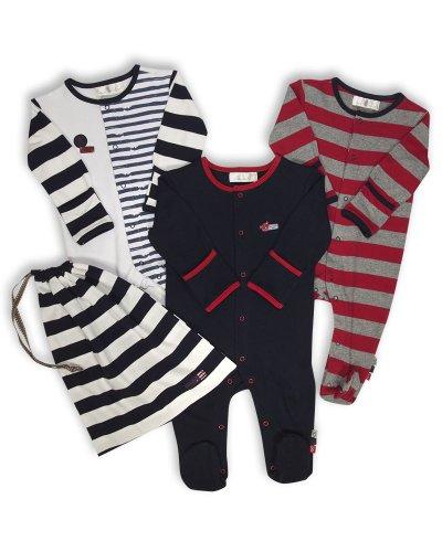 The Essential One The Essential One - Baby Jungen Schlafanzuge/Schlafanzug/Einteiler/Strampler (3-er Pack mit Beutel) - ESS109-50cm
