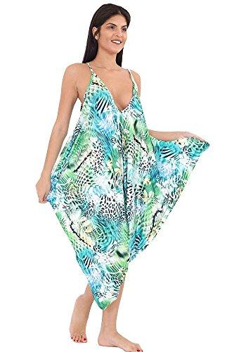 Generic Damen Playsuit Jumpsuit, mit Print mehrfarbig *, Playsuit, mehrfarbig Diva Jumpsuit