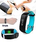 Wasserdicht Smart Watch speziell für die Schwimmen & Radfahren; Bluetooth 4.0 Sport Armband Calorie Tracker Sport-Handgelenk-Band Pedometer Gesundheit Schlaf-Monitor-Armband Kompatibel mit Android Smartphones
