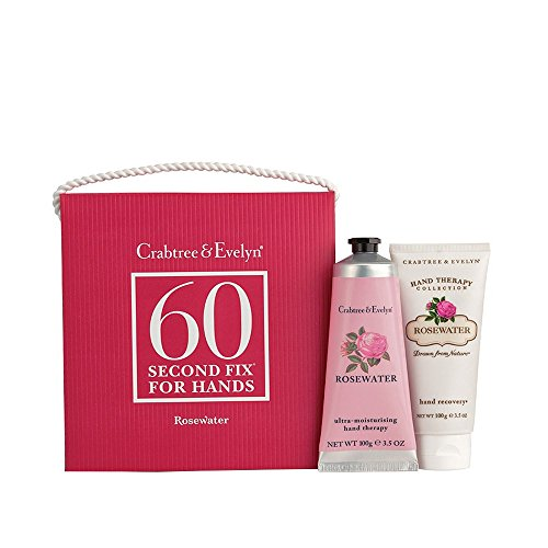 Crabtree & Evelyn 60 Second Fix For Hands Rosewater, 1er Pack (1 x 1 Stück)