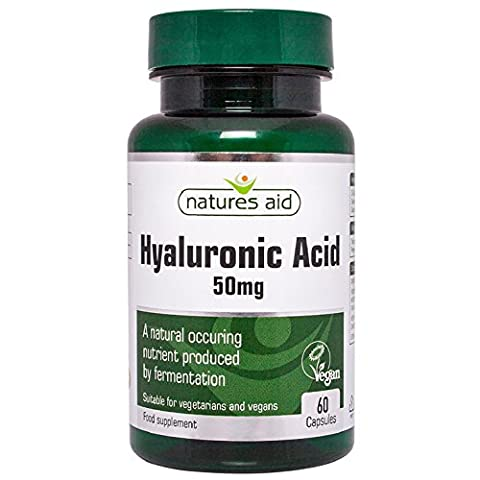 Natures Aid 50mg Hyaluronic Acid - Pack of 60 Capsules