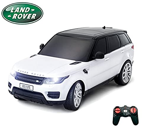 PTL® Range Rover Sport Remote Control Car for Kids with Working Lights, Electric Radio Controlled On Road RC Car Kids Boys Girls Toys - PL638 Official Licensed 1:24 Model, 40Mhz White RTR,