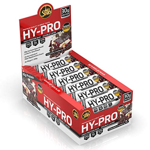 All Stars Hy-Pro BIG BAR, Chocolate Cranberry Pie,  24er Pack (24 x 100g) -