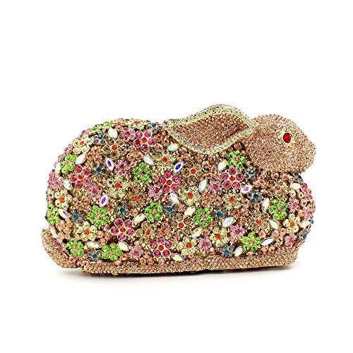 Bunny Borse sera alta sacchetti abito Strass borsetta festa nuziale portamonete della frizione A