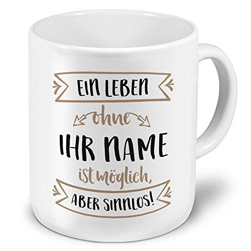 PrintPlanet® XXL Riesen-Tasse mit Namen personalisiert - Motiv Sinnlos - individuell gestalten - Namenstasse, Kaffeebecher, Becher, Mug