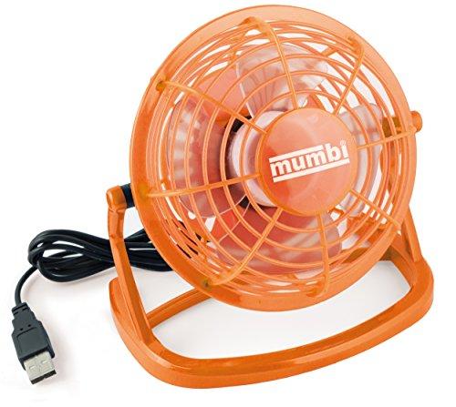 mumbi USB Ventilator, Mini Fan für den Schreibtisch mit Ein/Aus-Schalter, orange -