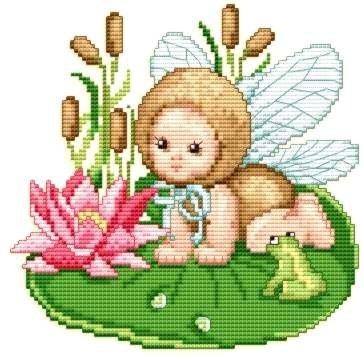 Ellen Maurer-Stroh | Kreuzstichvorlage Stickvorlage - Dragonfly Baby