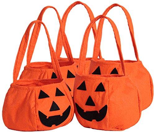bisbeutel,Halloween Kürbis Tasche, Halloween Deko,Halloween Kürbis Geschenk Taschen Kinder Süßigkeiten Taschen Rundboden Kürbis Tasche (Halloween-geschenk-taschen)
