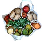 #7: Aimex Large Partition Grocery Hand Bag for Vegetables/Fruits