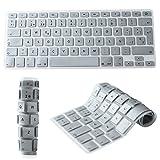 """YOKIRIN Española Cubierta del Teclado/Keyboard Cover para MacBook Pro 13"""" 15"""" 17"""" & Air 13"""" EU/ISO Disposición Silicone Skin-Plata"""