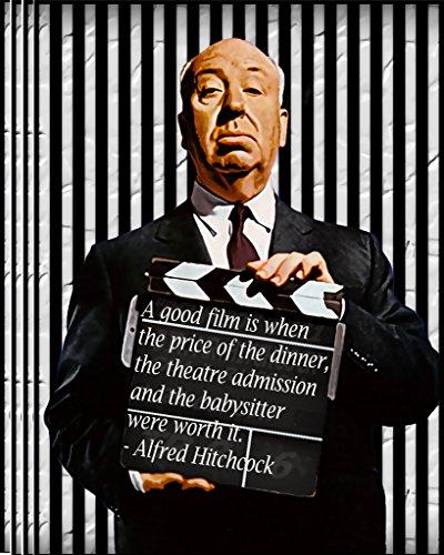 ALFRED HITCHCOCK Zitate Film, Film Cool Poster in allen Größen, Papier, A4 - Coole Film Poster