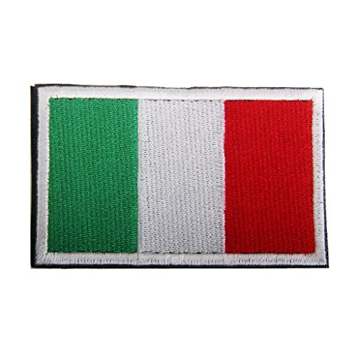 Sharplace 1 pezzo di bandiera badge distintivo patch ricamata tattico ricamo hook loop flag badge decorazione per zaini, cappello, abbigliamento - italiana