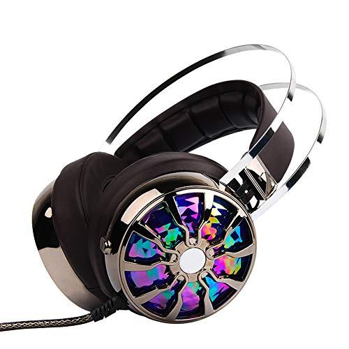 7.1 Surround Sound Gaming Headset für PS4, Xbox One, Nintendo Switch, PC, PS3, Mac, Laptop, Over-Ear mit Mikrofon LED Rauschunterdrückung mit Lautstärkeregler für MacBook, Best Gift Id - Sound Id Bluetooth