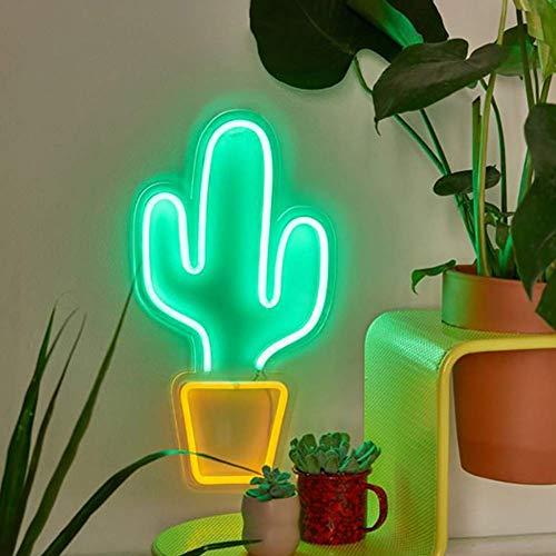 r Wand Dekoration, USB Betrieben, Nachtlichter Lampe Art Dekor, Wand Dekoration Tisch Lichter, Dekorativ Lichter für Zuhause Wohnzimmer Party Festival Shop - Kaktus ()
