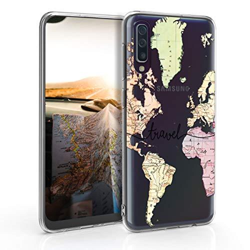 kwmobile Samsung Galaxy A50 Hülle - Handyhülle für Samsung Galaxy A50 - Handy Case in Schwarz Mehrfarbig Transparent