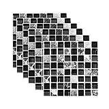 Lomsarsh 6PCS Stickers carrelage Cuisine Salle de Bain 3D La Simulation, Stickers muraux de Salle de Bain imperméable Stick Bricolage Autocollants de Style tuile Décoration de la Maison - 20x20CM