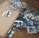 H+O Metallwaren GmbH & Co KG Profilbrettkrallen, Profilbrett-Krallen Paneelklammern 6 mm, 100 Stk. inkl. Schrauben für Befestigung der Profilbretter